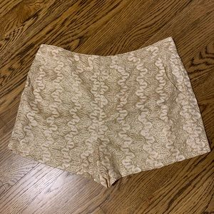 Forever 21 gold glitter shorts. NWT. Size M.